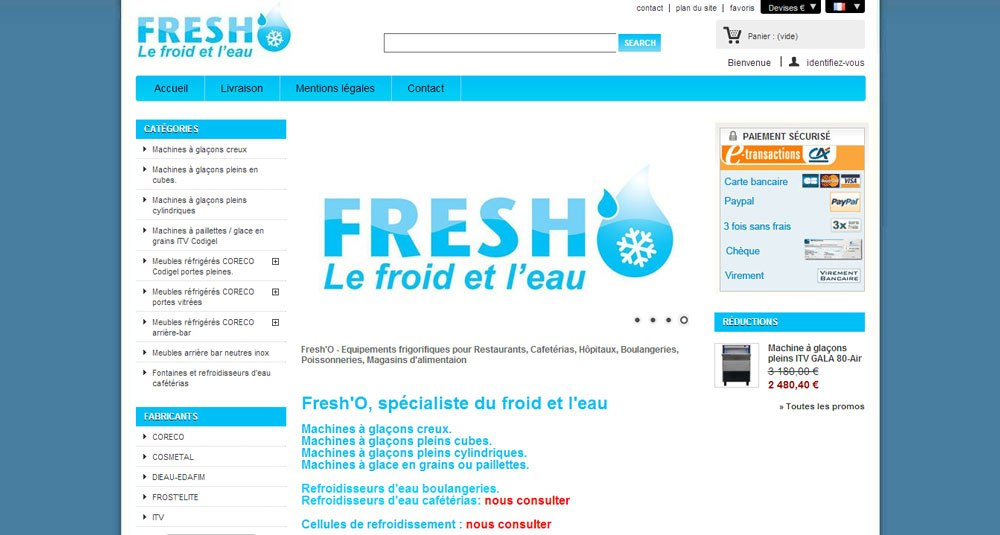 Equipement restaurant fresh o for Equipement hotellerie restauration