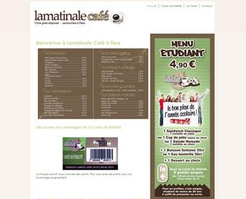 Création du site web La Matinale Café