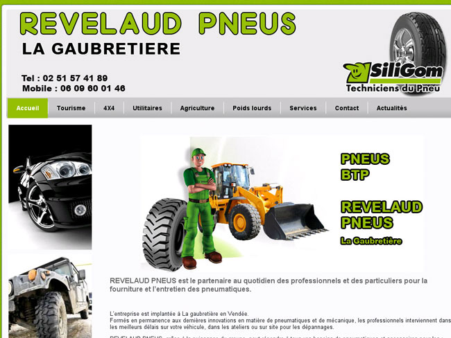 Création du site web – Revelaud Pneus