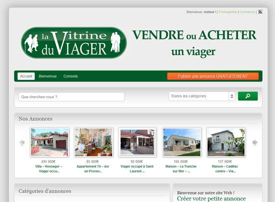 cr ation du site internet annonces immobili res en ligne. Black Bedroom Furniture Sets. Home Design Ideas