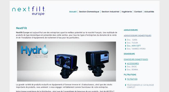 Création site internet Nexfilt France