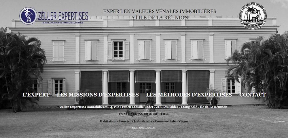 Création du site internet – Zeller expertises – La Réunion