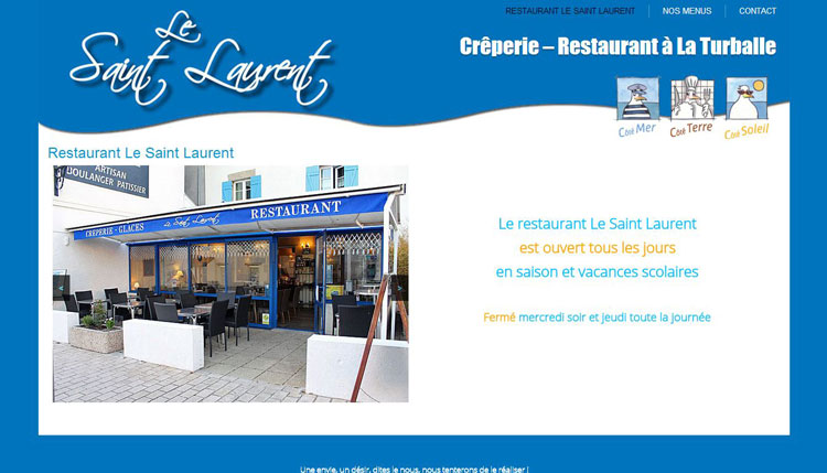 Création site Restaurant Le saint Laurent – La Turballe