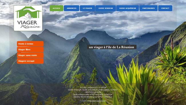 Création du site internet – Viager La Réunion