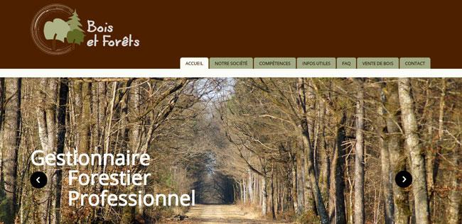 Création site Gestion forestière – EIRL Bois et Forêts